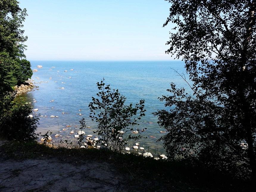 Allgegenwärtig: Die Ostsee. Das Freilichtmuseum ist direkt an der Ostsee gelegen.