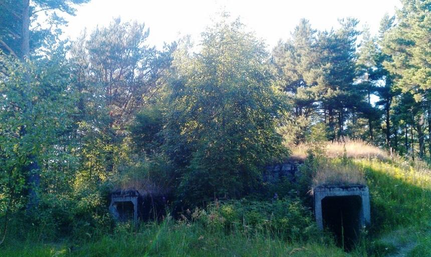 Was verbirgt sich in diesen Bunkern? Wir sind neugierig...
