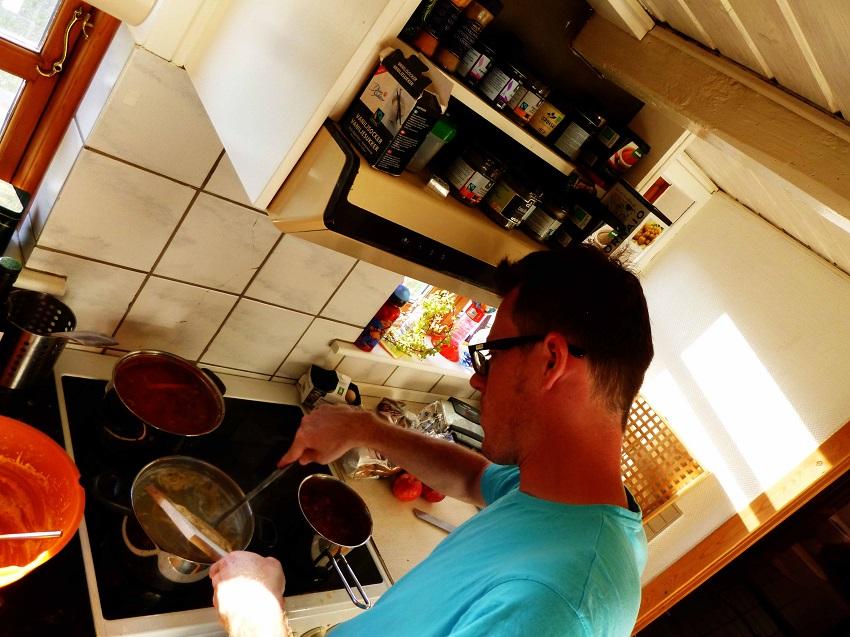 Linsen und Spätzle als Dankeschön für eine Übernachtung im dänischen Bauernhaus