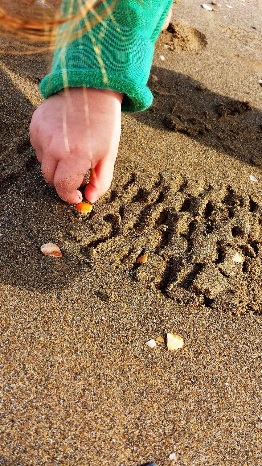 Muscheln sammeln...immer noch die schönste Strandbeschäftigung für das Reisemäuschen!