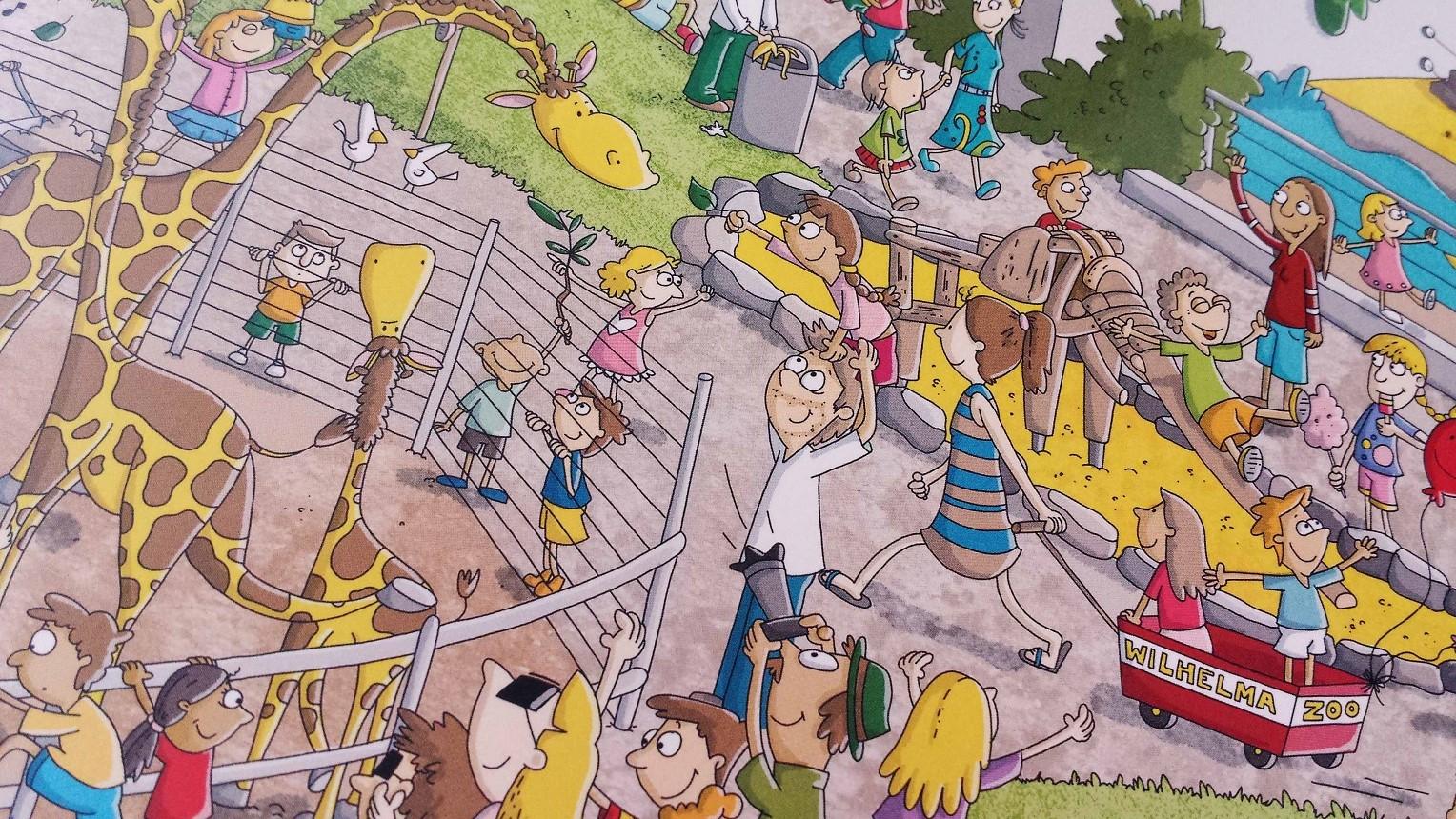 """Seht Ihr den Holzelefanten? Die Wilhelma hat in Kooperation mit der Kinderturnstiftung die """"Kinderturn-Welt"""" ins leben gerufen. Ein richtig aktiver Parcour. Gleich am Eingang liegen dafür kostenlose Flyer aus!"""
