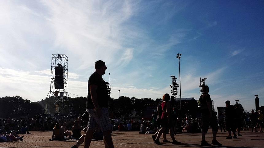 Alles friedlich, Sonne, gute Musik! Warum nicht?