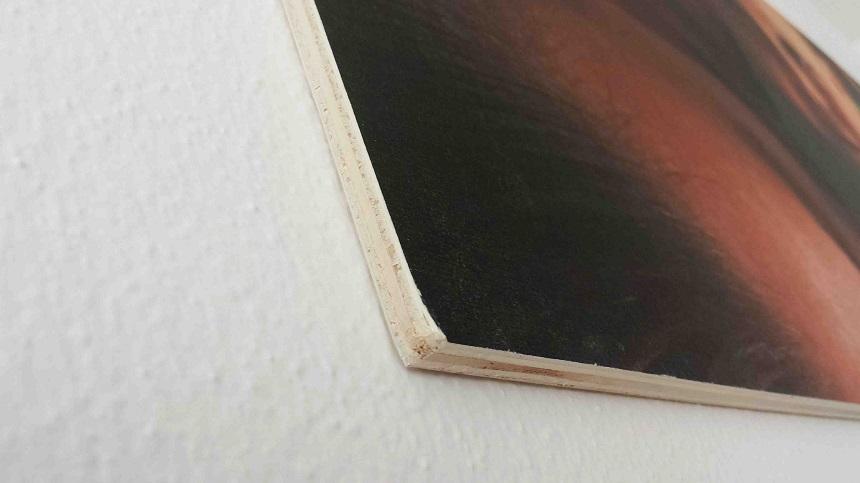 Ein Bild direkt auf Holz
