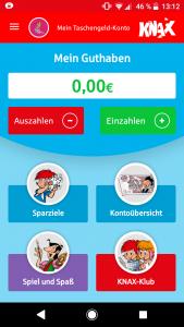 KNAX Taschengeld App Bewertung